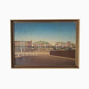 Painting, Railway Station by Bohuslav Suchy, 1951