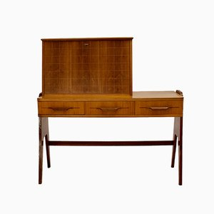 Mid-Century Modern Writing Desk in Wood, 1950s