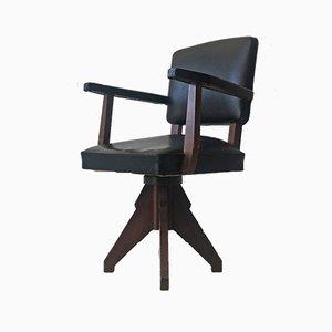 Swivel Desk Armchair, 1940s