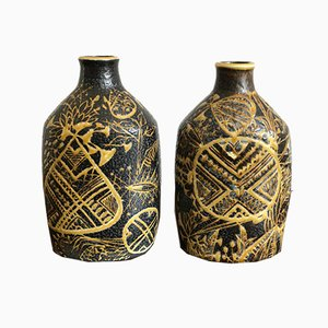 Ceramic Vases by Nils Thorsson for Royal Copenhagen, 1960s, Set of 2