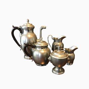 Art Deco Tin Tea & Coffee Service, Set of 5