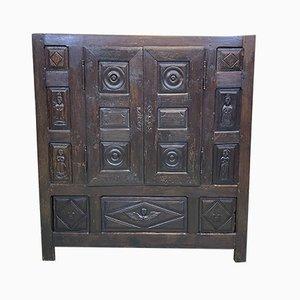 Oak Linen Press Cabinet, Leon, Finistère-Brittany, 1767