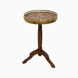 Small Tripod Gueridon Table with Marble Top