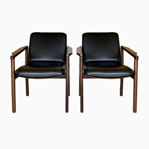 Danish Style Teak Chairs, 1960s, Set of 2