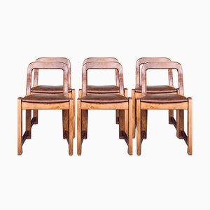 Modern Danish Style Chairs, 1970s, Set of 6