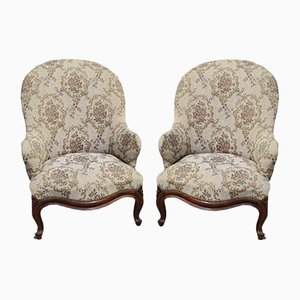 Louis Philippe Easy Chairs, Set of 2