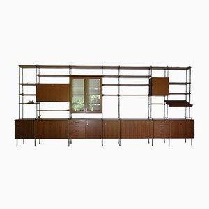 Mid-Century Teak String Shelf System by Ernst Hilker for Omnia