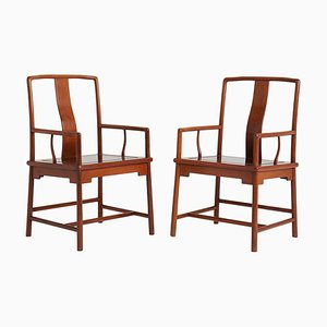 Yoke Back Armchairs in the Ming Style, Set of 2