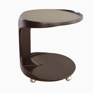 Mesa auxiliar con ruedas de Horn Collection, años 70