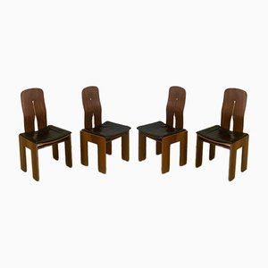 Chairs by Scarpa for Bernini, 1970s, Set of 4