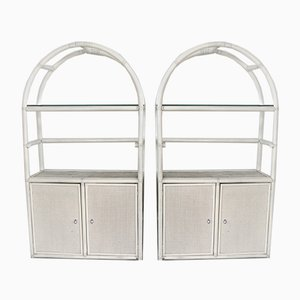 Shelves in Bamboo and Woven Cane, Set of 2