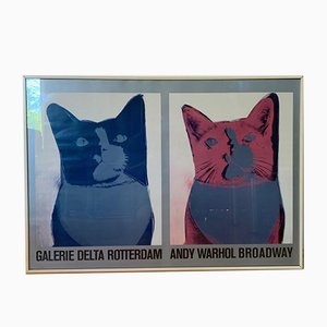 Screenprint Poster of Andy Warhol, Broadway, Galerie Delta Rotterdam, 1984