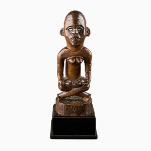 Mother and Child Figure, Phemba, Kongo, DRC, Early 20th Century