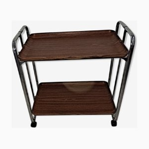 Mid-Century Folding Serving Trolley, 1960s, Italy