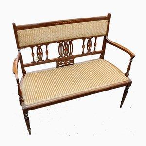 2 Seater Mahogany Sofa with Inlay Detailing, 1920s