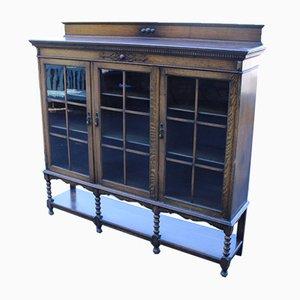 Oak 3 Door Bookcase, 1940s