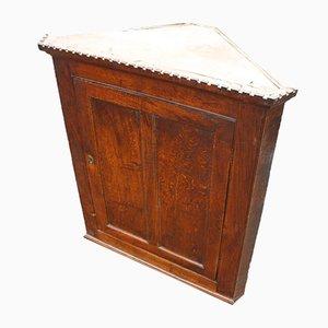 Oak Corner Cupboard with Shelves, 1850s