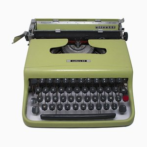Mint Green Lettera 22 Typewriter from Olivetti