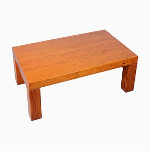 Heavy Pine Coffee Table in the Style of Charlotte Perriand, 1960s