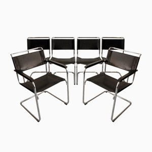 S33 and S34 Dining Chairs by Mart Stam for Thonet, Set of 6