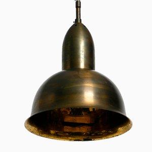 Mid-Century Brass Church Pendant Lamp