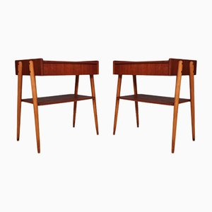 Mid-Century Teak Side Table or Bedside Table from Carlström & Co, 1960s