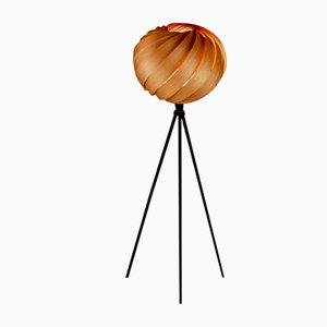 Mela Tripod Floor Lamp in Cherry Wood by Gofurnit