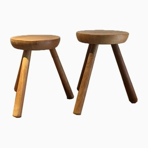 Small Stools in Perriand Style, 1960s , Set of 2