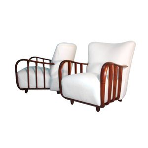 White Armchairs by Osvaldo Borsani, 1940s, Set of 2