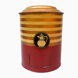 Art Deco Printed Kaiser's Coffee Storage Tin