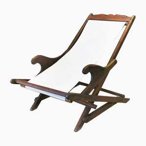 Vintage Portuguese Deck Chair, 1930s