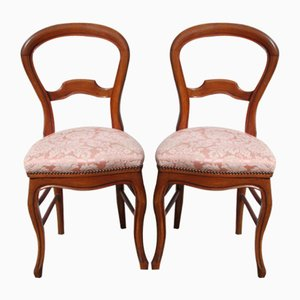 Louis Philippe Chairs in Cherry, Set of 2
