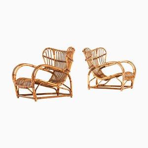 Model 3440 Easy Chairs by Viggo Boesen for R. Wengler, Denmark, Set of 2