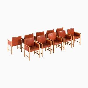 Danish Armchairs, Set of 10