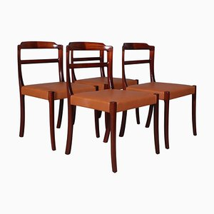 Dining Chairs by Ole Wanscher, Set of 4