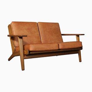 Model 290 Oak Two-Seat Sofa by Hans J. Wegner for Getama