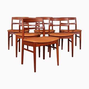 Teak Dining Chairs by Henning Kjærnulf, Set of 6