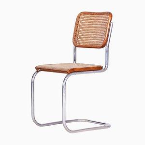 German Bauhaus Chrome Chair by Marcel Breuer and Thonet, 1930s