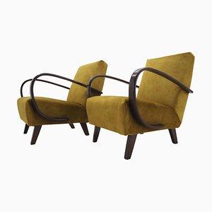 Armchairs by Jindrich Halabala, Czechoslovakia, 1950s, Set of 2