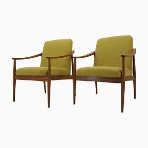 Mid-Century Armchairs, Czechoslovakia, 1960s, Set of 2