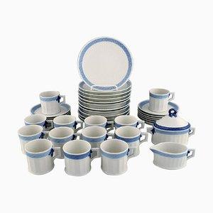 Royal Copenhagen Blue Fan Coffee Service for Twelve People, 1985-1991, Set of 38