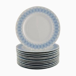 Lotus Porcelain Dinner Plates by Bjorn Wiinblad for Rosenthal, Set of 12