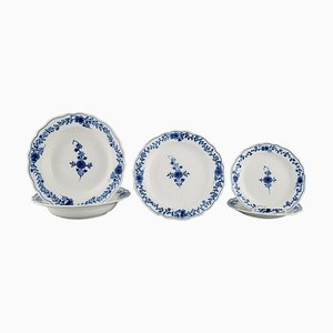 Meissen Plates Cut in Hand-Painted Porcelain, 1900s, Set of 5