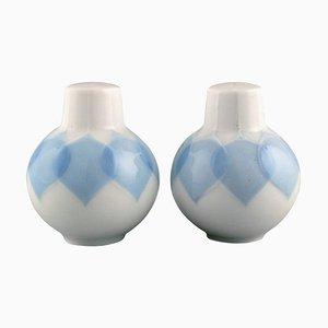 Lotus Salt and Pepper Shaker in Porcelain by Bjorn Wiinblad for Rosenthal, Set of 2