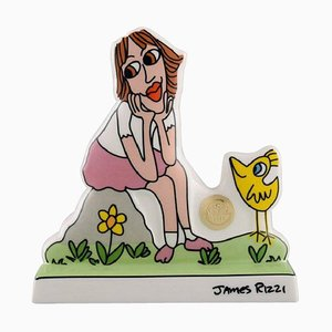 Pop Art Porcelain Figure Thinking of You by James Rizzi for Goebel