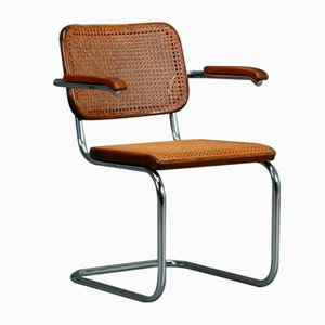 Bauhaus Brown S64 Cantilever Chair from Thonet