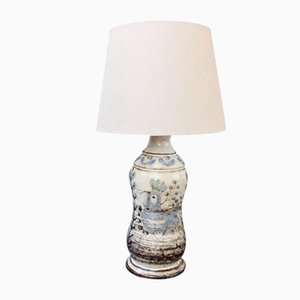 French Vintage Ceramic Table Lamp from Le Mûrier Studios, 1960s