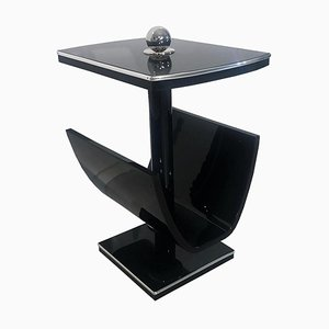 Art Deco Black Smoking Table or Reading Table