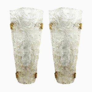 Bubble Murano Glass Sconces, 1960s, Set of 2