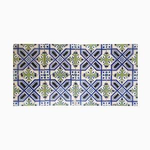 Dutch Handmade Antique Ceramic Tiles, 1920s, Set of 35